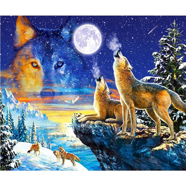 Kit pictura pe numere cu animale, DTP4985