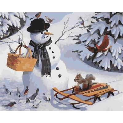 Kit pictura pe numere cu iarna, DTP519