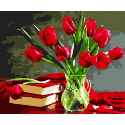 Kit pictura pe numere cu flori, NDTP-589