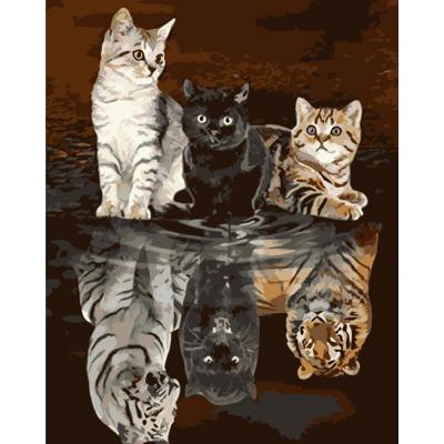 Kit pictura pe numere cu animale, NDTP-594
