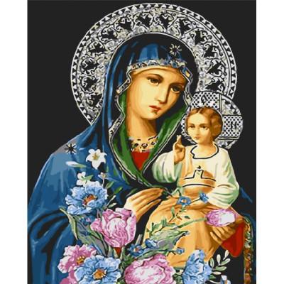 Kit pictura pe numere cu religioase, DZ6333
