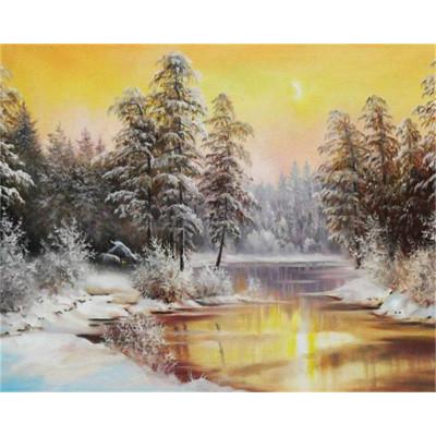 Kit pictura pe numere cu iarna, DTP7138