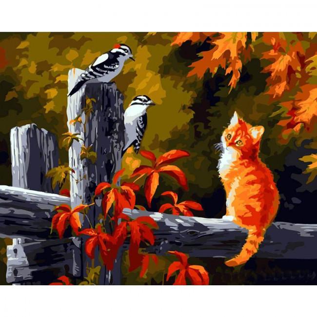 Kit pictura pe numere cu animale, DTP1137