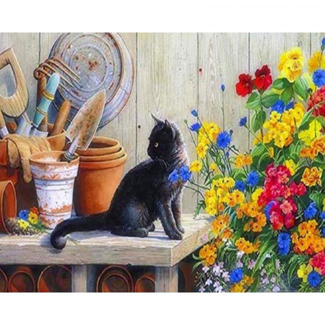 Kit pictura pe numere cu animale, DZ1647