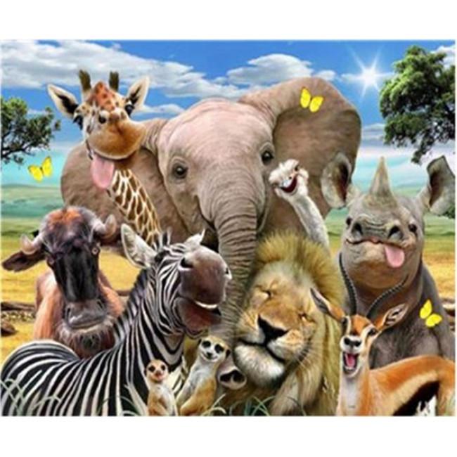 Kit pictura pe numere cu animale, DTP2383