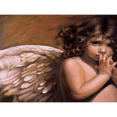 Kit pictura pe numere cu religioase, Lovely Angel