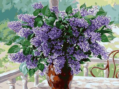 Kit pictura pe numere cu flori