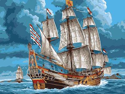 Kit pictura pe numere cu vapoare