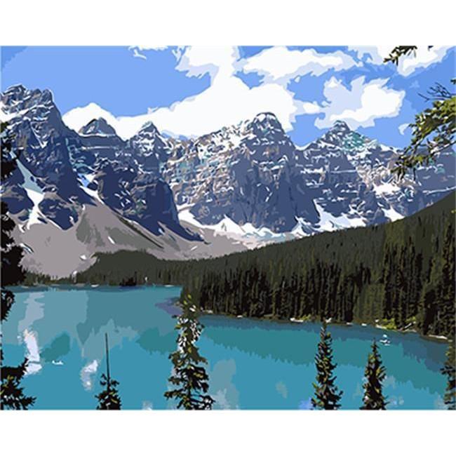 Kit pictura pe numere cu peisaje, DTP2928
