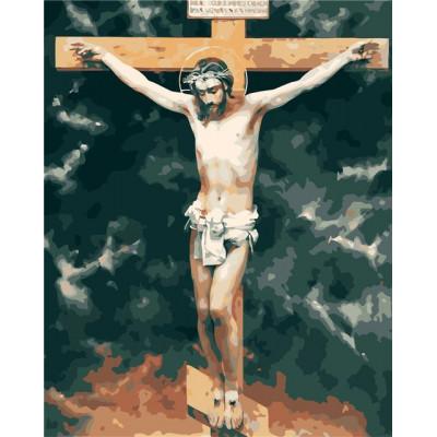 Kit pictura pe numere cu religioase, DZ3004