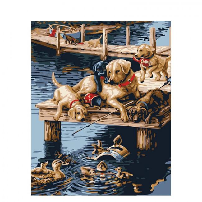 Kit pictura pe numere cu animale, DTP665