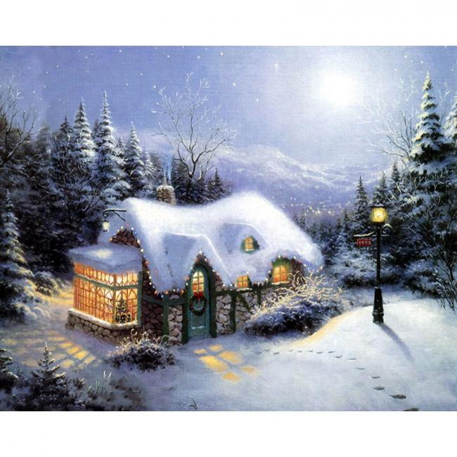 Kit pictura pe numere cu iarna, DTP270