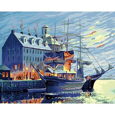 Kit pictura pe numere cu vapoare, DTP1292