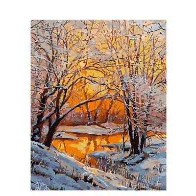 Kit pictura pe numere cu iarna, DZ908