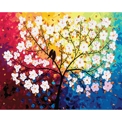Kit pictura pe numere flori, DTP2796