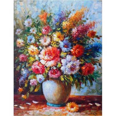 Kit pictura pe numere flori, DZ2992