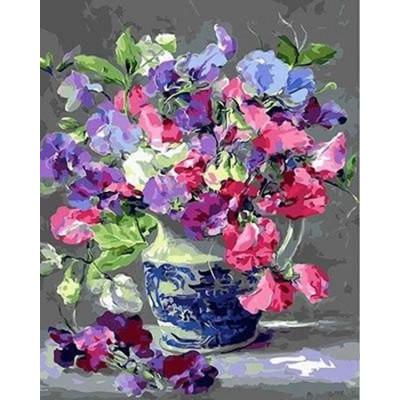 Kit pictura pe numere flori, DTP2983