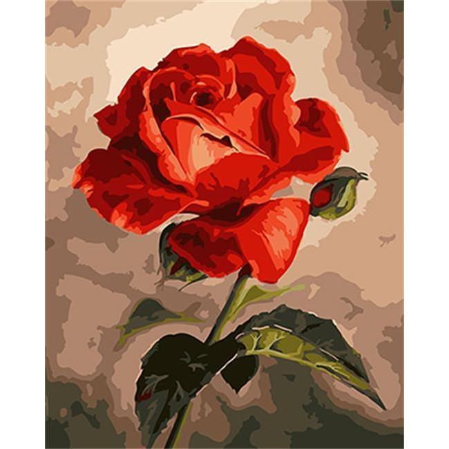 Kit pictura pe numere flori, DTP2920