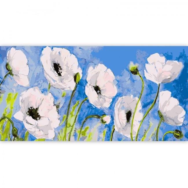 Kit pictura pe numere flori, DTP2893