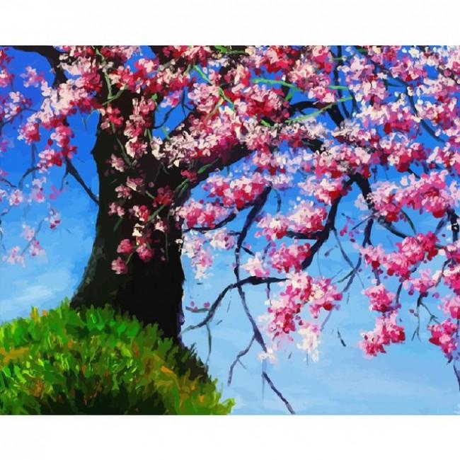 Kit pictura pe numere flori, DTP2823