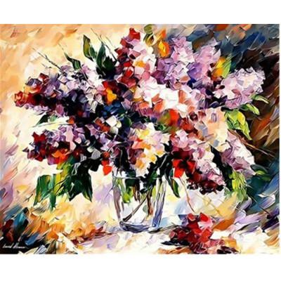 Kit pictura pe numere flori, DZ2558