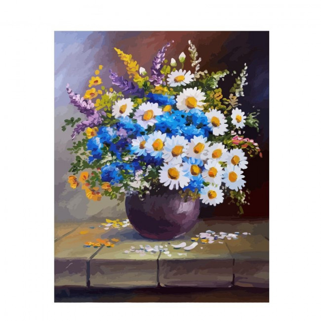Kit pictura pe numere flori, DTP2432