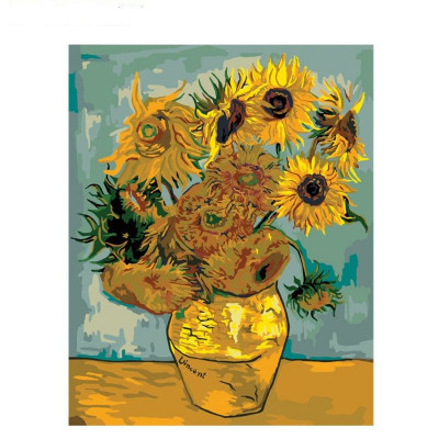 Kit pictura pe numere flori, DTP2847