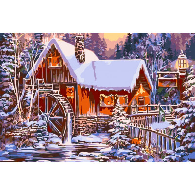 Kit pictura pe numere cu iarna, NDTP-041