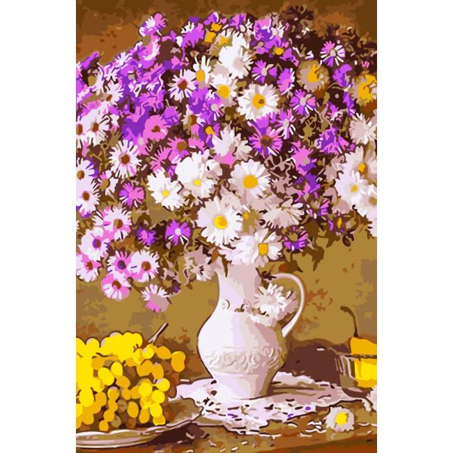 Kit pictura pe numere cu flori, NDTP-072