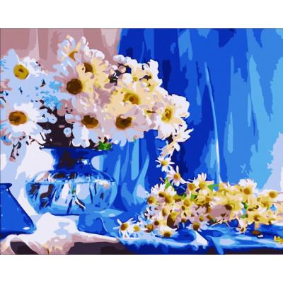 Kit pictura pe numere cu flori, NDTP-235
