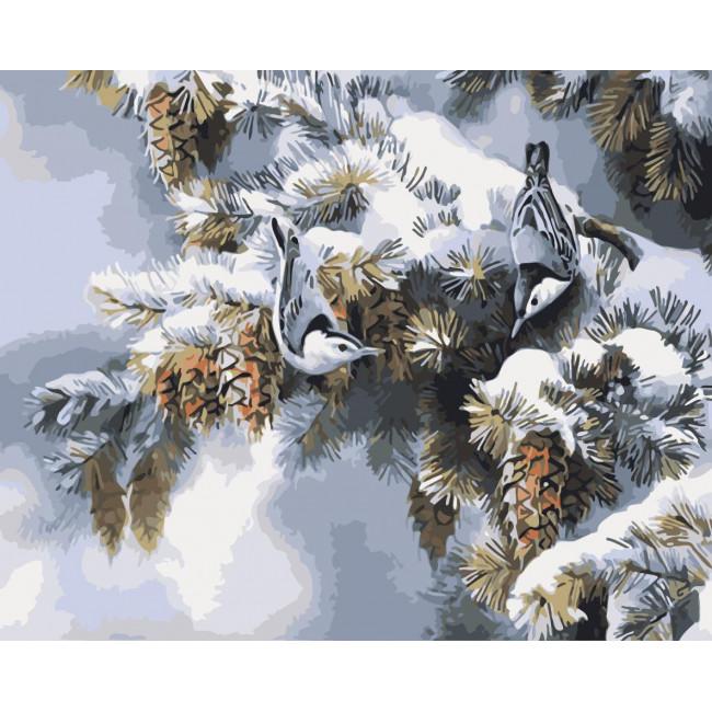 Kit pictura pe numere cu iarna, NDTP-239