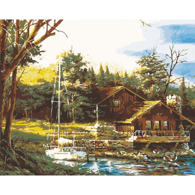 Kit pictura pe numere cu peisaje, NDTP-245