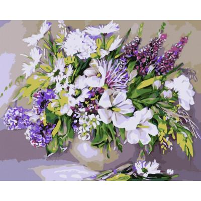 Kit pictura pe numere cu flori, NDPT-297