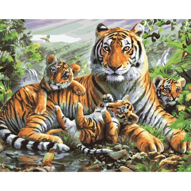 Kit pictura pe numere premium cu animale, NDTP-172R
