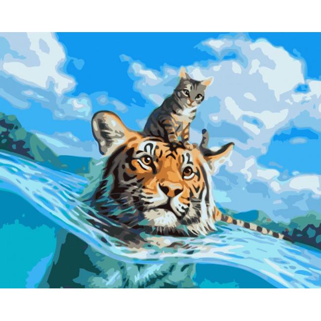 Kit pictura pe numere premium cu animale, NDTP-182