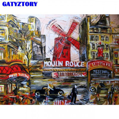 Kit pictura pe numere cu orase, DZ2592