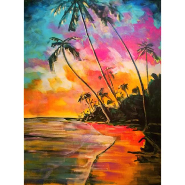 Kit pictura pe numere cu peisaje, DTP2283