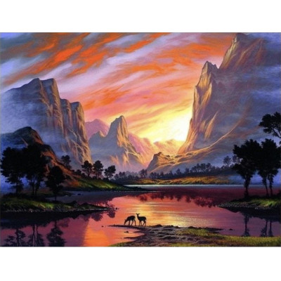 Kit pictura pe numere cu peisaje, DTP2306