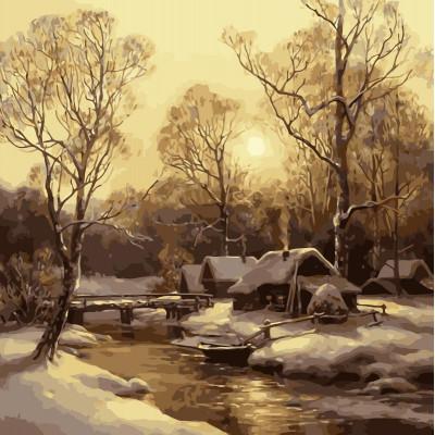 Kit pictura pe numere cu iarna, NDTP-004