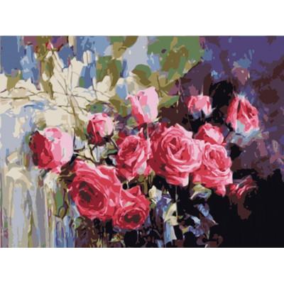 Kit pictura pe numere cu flori, NDTP-024
