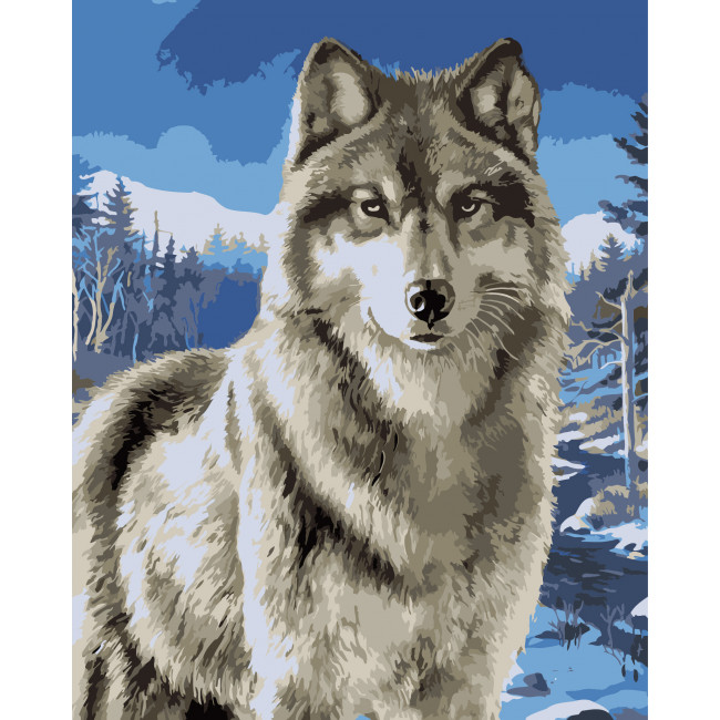 Kit pictura pe numere cu animale, NDTP-043
