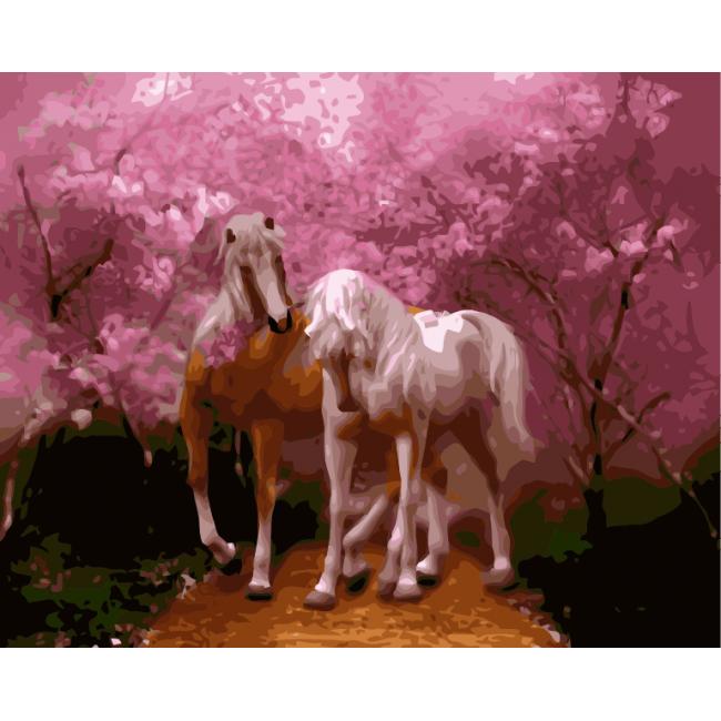 Kit pictura pe numere cu animale, NDTP-078