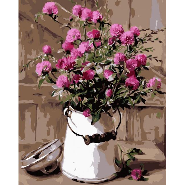 Kit pictura pe numere cu flori, NDTP-159R