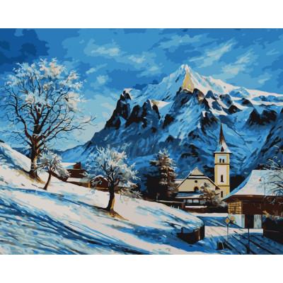 Kit pictura pe numere cu iarna, NDTP-019