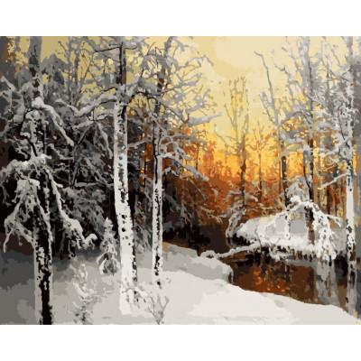 Kit pictura pe numere cu iarna, NDTP-034