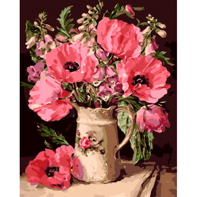 Kit pictura pe numere cu flori, NDTP-102