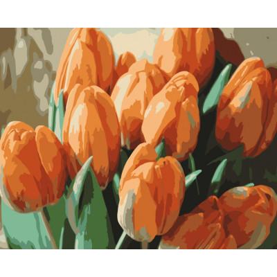 Kit pictura pe numere cu flori, NDTP-1037