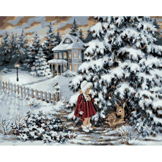 Kit pictura pe numere cu iarna, NDTP-1122
