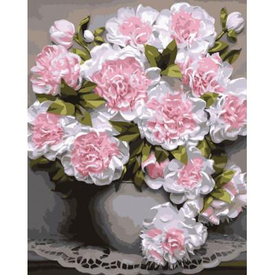 Kit pictura pe numere cu flori, NDTP-1140