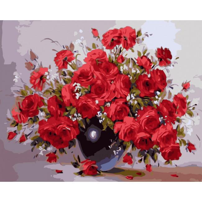 Kit pictura pe numere cu flori, NDTP-1245
